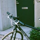 休みの日は自転車で出かける。
