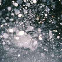 帰宅途中も吹雪。
