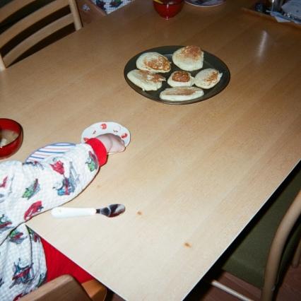 朝ごはんはパンケーキ