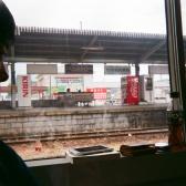実家に戻る途中の電車内