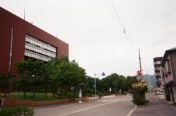 市役所の通り